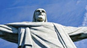 基督救世主雕象里约热内卢巴西 库存照片