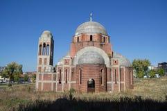 基督救主大教堂在普里什蒂纳,科索沃 免版税库存图片