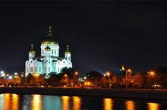 基督救主大教堂在莫斯科,俄国 免版税库存照片