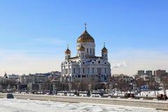 基督救主大教堂在3月 库存图片