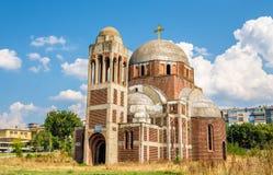 基督救主塞尔维亚正统大教堂在普里什蒂纳, K 免版税库存图片
