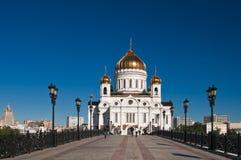 基督救主大教堂在莫斯科 图库摄影