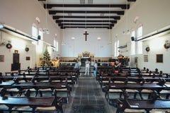 基督教会内部是18世纪英国国教的教堂在市马六甲,马来西亚 库存图片