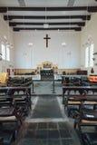 基督教会内部是18世纪英国国教的教堂在市马六甲,马来西亚 免版税库存照片