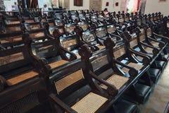 基督教会内部是18世纪英国国教的教堂在市马六甲,马来西亚 免版税库存图片