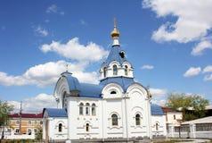 基督教会在俄罗斯 免版税库存照片