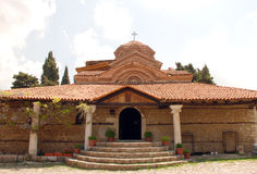 基督教会在奥赫里德,马其顿 免版税图库摄影