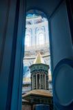基督教会在Istra,莫斯科地区,俄罗斯附近的新耶路撒冷 免版税库存图片