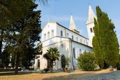 基督教会在Liznjan的中心 库存照片