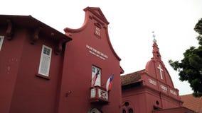 基督教会地标马六甲马来西亚melaka 图库摄影