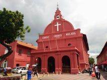 基督教会地标马六甲马来西亚melaka 库存图片