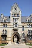 基督教会城市学院牛津 免版税图库摄影