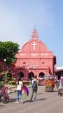 基督教会天视图在马六甲 免版税图库摄影