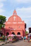 基督教会天视图在马六甲 图库摄影