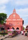 基督教会天视图在马六甲 免版税库存照片
