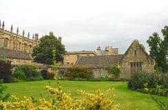 基督教会庭院纪念牛津英国战争 库存图片