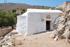 基督教会救主,蒂洛斯岛 库存照片