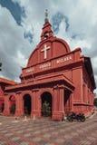 基督教会是18世纪英国国教的教堂在市马六甲,马来西亚 免版税图库摄影