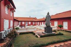 基督教会是18世纪英国国教的教堂在市马六甲,马来西亚 免版税库存图片