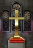 基督教会污迹玻璃窗 库存图片