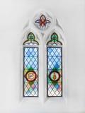 基督教会窗口 免版税库存照片