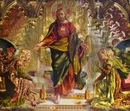 基督教会耶稣绘画siena 免版税库存图片