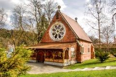 基督教会英国国教的教堂- Marianske Lazne -捷克 库存照片