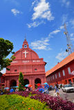 基督教会&荷兰正方形在马六甲市 免版税图库摄影