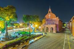 基督教会&荷兰正方形在马六甲,马来西亚 免版税库存图片