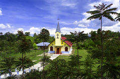 基督教会Huta Hotang。 免版税库存照片