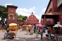 基督教会Melaka 免版税图库摄影