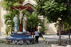 基督教在越南 库存照片