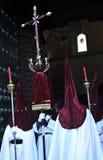 基督教徒,圣周在巴伊扎,哈恩省省,安大路西亚,西班牙 免版税库存照片