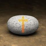 基督教我的岩石 库存图片