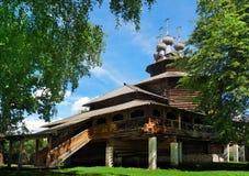 基督教木教会在俄罗斯 图库摄影