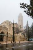基督教青年会三曲拱旅馆在耶路撒冷 库存图片