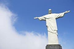 基督有云彩的救世主里约 免版税图库摄影