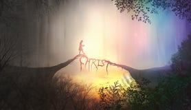 基督桥梁在森林里 免版税图库摄影