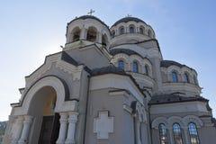 基督的圣洁面孔寺庙日出的救主在索契 库存照片