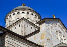 基督的复活的大教堂在波多里加,黑山 免版税库存图片