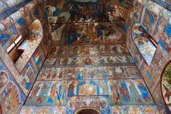 基督的复活的教会内部在罗斯托夫Kreml 免版税库存照片