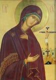 基督神图标耶稣母亲 免版税库存图片
