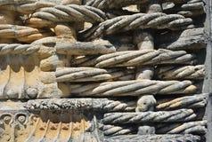 基督等级的女修道院在Tomar葡萄牙,石细节 图库摄影