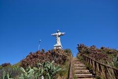 基督纪念碑, Garajau,马德拉岛 库存照片
