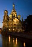 基督大教堂救主在圣彼德堡,俄国 库存图片