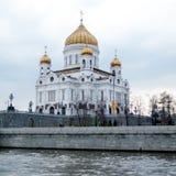基督莫斯科大教堂救主在多云天2011年 免版税图库摄影