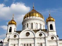 基督莫斯科大教堂救主覆以圆顶2011年 库存照片