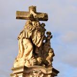 基督迫害了耶稣雕象 库存图片