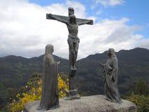 基督雕象。 库存照片