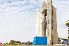 基督雕象在Floridablanca Santisimo Moun的现场 免版税库存照片